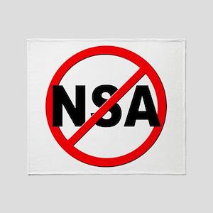 Anti / No NSA Throw Blanket