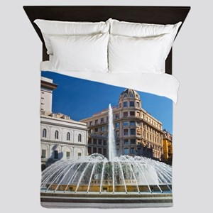 Piazza de Ferrari Queen Duvet