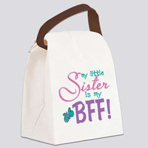 Little Sister BFF Butterfly Canvas Lunch Bag
