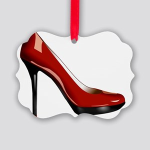 Sexy Red High-heel Shoe Picture Ornament