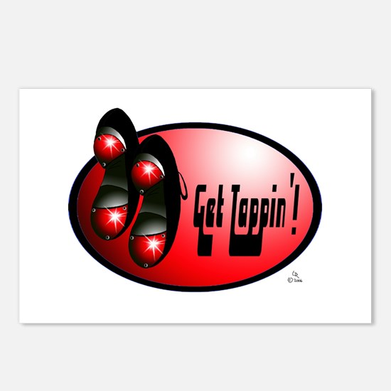 Sparkling Red - Get Tappin' Postcards (Package of