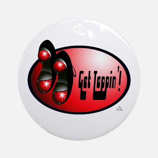 Sparkling Red - Get Tappin' Ornament (Round)