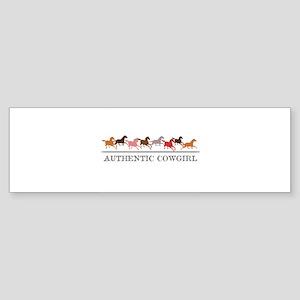 Authentic Cowgirl Bumper Sticker