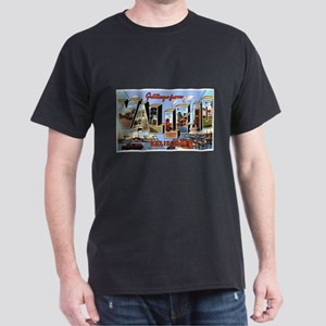 Vallejo California Greetings (Front) Dark T-Shirt