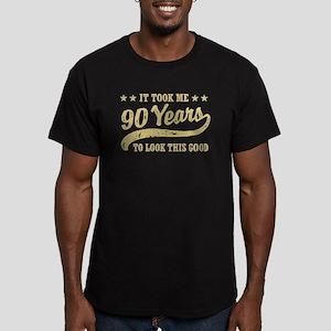 Funny 90th Birthday Men's Fitted T-Shirt (dark)