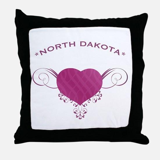 North Dakota State (Heart) Gifts Throw Pillow