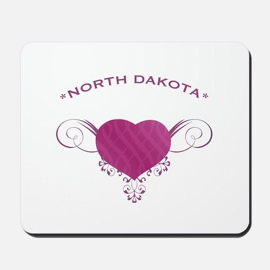 North Dakota State (Heart) Gifts Mousepad