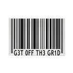 Get off the Grid   Rectangle Magnet (100 pack)