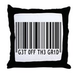 Get off the Grid   Throw Pillow