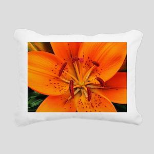 Tiger Lily Extreme Close Rectangular Canvas Pillow