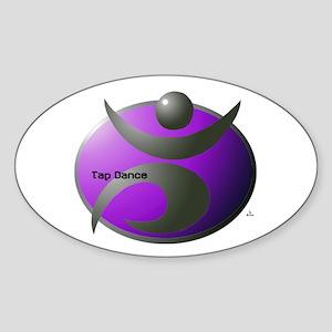 Modern Metal Tap Purple Oval Sticker
