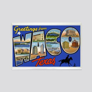 Waco Texas Greetings Rectangle Magnet