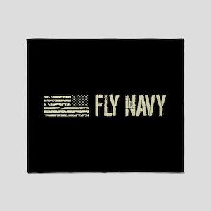 Black Flag: Fly Navy Throw Blanket