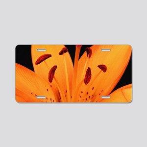 Tiger Lily Up Close And Per Aluminum License Plate