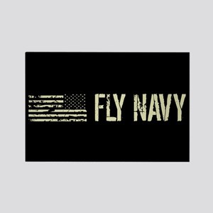 Black Flag: Fly Navy Rectangle Magnet