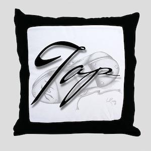 Black Tap on Shoe Throw Pillow