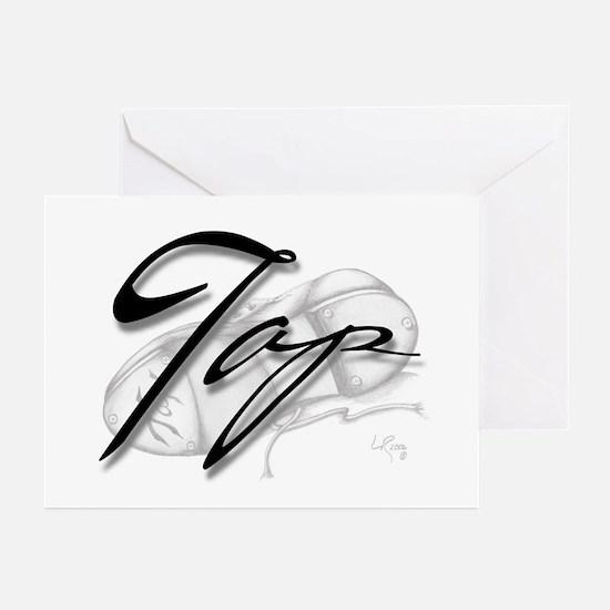 Black Tap on Shoe Greeting Cards (Pk of 10)