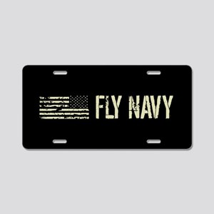 Black Flag: Fly Navy Aluminum License Plate
