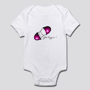 """Hot Pink """"Get Tappin'"""" Infant Bodysuit"""
