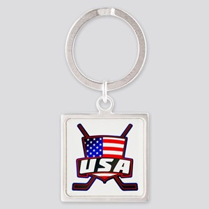 American Hockey Shield Logo Keychains