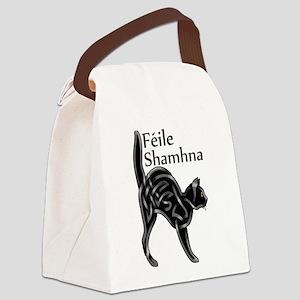 Halloween Kitty Canvas Lunch Bag