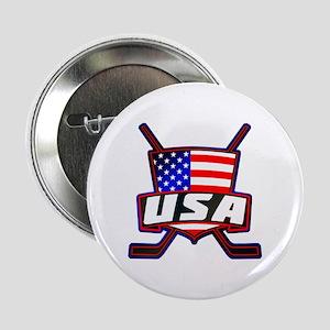 "American Hockey Shield Logo 2.25"" Button"