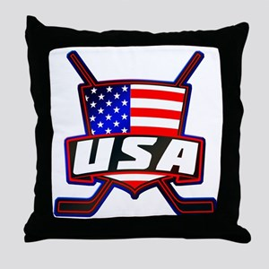 American Hockey Shield Logo Throw Pillow