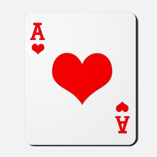 Ace of Hearts Mousepad