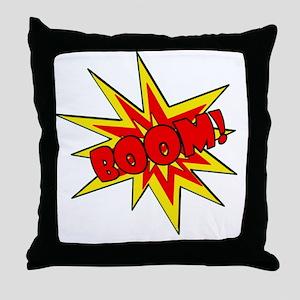 Boom!  Cartoon SFX Throw Pillow