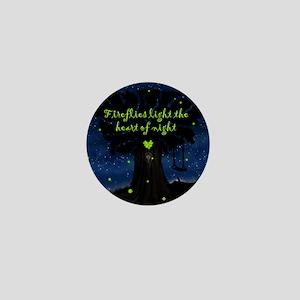 Fireflies light the heart of night Mini Button