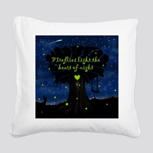 Fireflies light the heart of night Square Canvas P