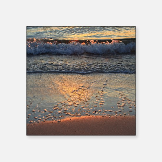 """beach and waves... Square Sticker 3"""" x 3"""""""
