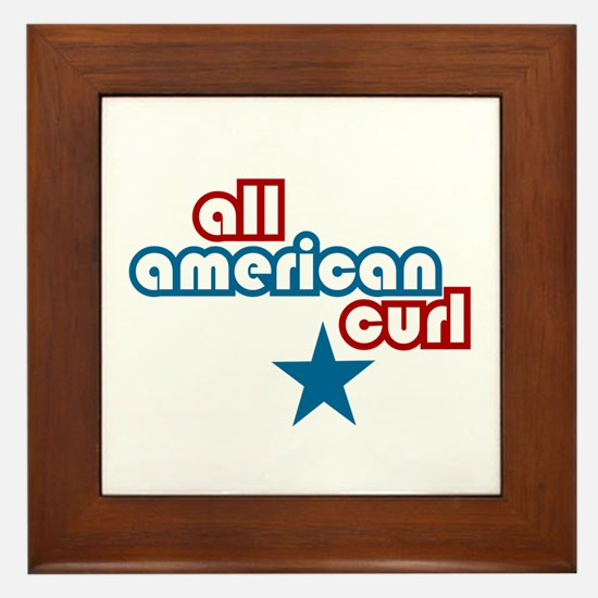 All American Curl Framed Tile
