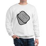 My Husband is an Airman dog tag Sweatshirt