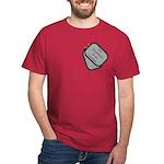 My Husband is an Airman dog tag Dark T-Shirt