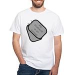 My Husband is an Airman dog tag White T-Shirt