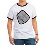 My Husband is an Airman dog tag Ringer T