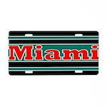 Miami Aluminum License Plate
