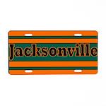 Jacksonville Aluminum License Plate