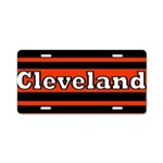 Cleveland Aluminum License Plate