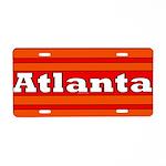Atlanta Aluminum License Plate