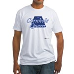 Cornhole Queen Fitted T-Shirt