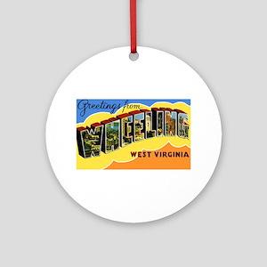 Wheeling West Virginia Greetings Ornament (Round)