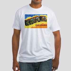 Wheeling West Virginia Greetings (Front) Fitted T-