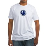 blue metal dog Fitted T-Shirt