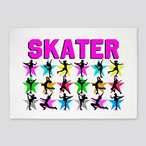 FIERCE ICE SKATER 5'x7'Area Rug