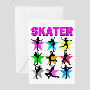 FIERCE ICE SKATER Greeting Card