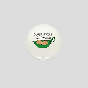 Super Uncle of Twins Mini Button