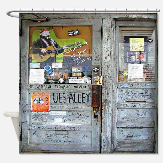 Ground Zero Blues Club Graffiti Shower Curtain