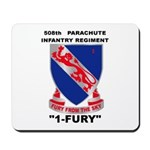 508TH PARACHUTE INFANTRY REGIMENT Mousepad